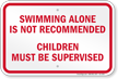 Ohio No Swimming Alone Sign