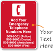 Oklahoma Custom Emergency Telephone Sign