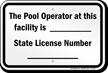 Pennsylvania Pool Operator Sign