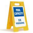 Pool Capacity XX Persons Custom Standing Floor Sign