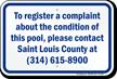 Register Pool Condition Complaint Missouri Sign