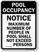 Pool Max Occupancy Sign