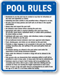 Maryland Pool Rules Sign