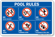 Pool Rules Symbol Sign
