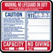 Pool Warning Sign