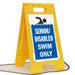 Senior Disabled Swim Only Floor Sign