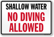 No Diving Sign for South Carolina
