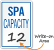 Spa Max Capacity Sign