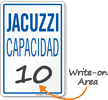 Jacuzzi Capacidad Spanish Maximum Capacity Sign
