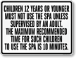 Nevada Spa Safety Rules Sign
