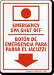 Bilingual Emergency Spa Sign