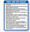 Indiana Pool And Spa Rules Sign