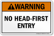 Utah No Head-First Entry Pool Warning Sign