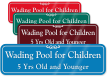 Wading Pool For Children 5 Yrs Old Sign
