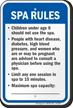 Washington Spa Rules Sign