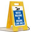 Water Walking Or Jogging Lane Only Floor Sign
