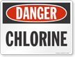 Wyoming Danger Chlorine Pool Sign