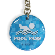 Colored Epoxy Pool Pass Key Tags, Sequentially Numbered