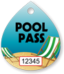 Pool Pass In Water Drop Shape, Beach Chair