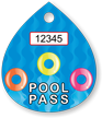 Pool Pass In Water Drop Shape, Life Rings Design