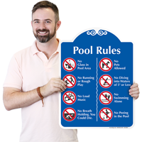 Pool Rules Symbol Signsature Signs~