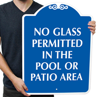 No Glass Permitted In The Pool Area SignsatureSigns~