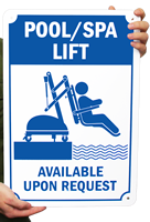 Handicapped Pool Lift Sign