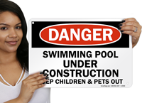 Keep Children & Pets Out Pool Sign