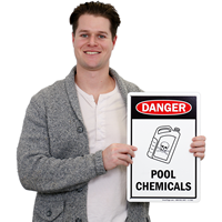 Danger Pool Chemicals Sign