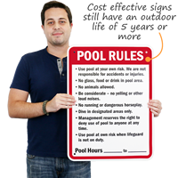 Humorous Pool Sign