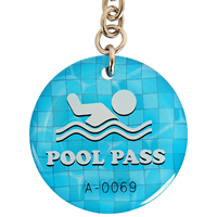 Epoxy Pool Pass Tags