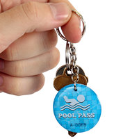 Epoxy Pool Pass Steel Key Tags
