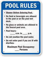 Hot Tub Rules Signs Free Pdf Sku S 4896