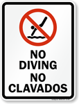 Bilingual Pool Signs