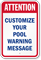 Add Your Customized Pool Warning Message Sign