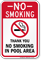 No Smoking In Pool Area Sign