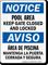 Bilingual Pool Area, Keep Gate Closed Sign