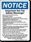 Hot Tub Safety Warnings Sign