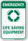 Life Saving Equipment (graphic) Warning Sign