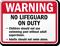 No Lifeguard On Duty Sign for Minnesota